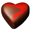 128x128px size png icon of chocolate hearts 12
