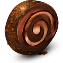 128x128px size png icon of Chocolate Cream Roll