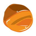 128x128px size png icon of caramel