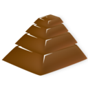128x128px size png icon of chocolate pyramid