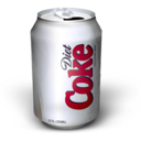128x128px size png icon of Diet Coke