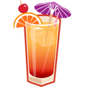 128x128px size png icon of tequila sunrise