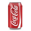 128x128px size png icon of Coca Cola Can