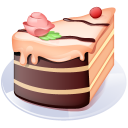 128x128px size png icon of Piece of cake