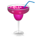 128x128px size png icon of Cocktail Purple Passion