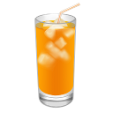 128x128px size png icon of Cocktail Screwdriver Orange