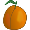 128x128px size png icon of apricot