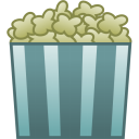 128x128px size png icon of pop corn
