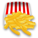 128x128px size png icon of French fries