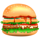 128x128px size png icon of Burger