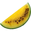 128x128px size png icon of yellow watermelon