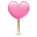 128x128px size png icon of ice cream heart