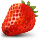 128x128px size png icon of Strawberry