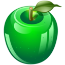 128x128px size png icon of green apple