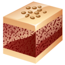 128x128px size png icon of nuts cake