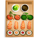 128x128px size png icon of sushi 1