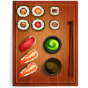 128x128px size png icon of sushi 3