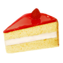128x128px size png icon of strawberry cake