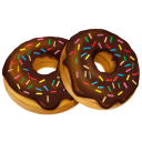 128x128px size png icon of donuts