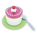 128x128px size png icon of Tea Cake