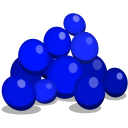 128x128px size png icon of blueberries