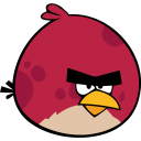 128x128px size png icon of angry bird red