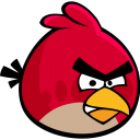 128x128px size png icon of angry bird
