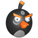 128x128px size png icon of Bird black