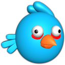 128x128px size png icon of Bird blue