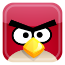 128x128px size png icon of red bird