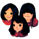 128x128px size png icon of Three Girls