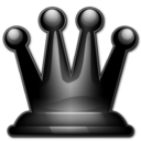 128x128px size png icon of Black queen 2d