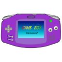 Gameboy Advance purple Icon