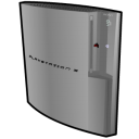 128x128px size png icon of Playstation 3 standing silver