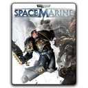 128x128px size png icon of Warhammer 40k Space Marine