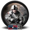 128x128px size png icon of America s Army 3 5