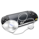 128x128px size png icon of PSP umd headphones