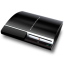 128x128px size png icon of Black PS3