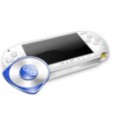 128x128px size png icon of Psp white umd
