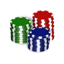128x128px size png icon of Poker Chips
