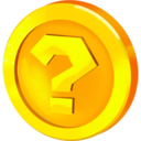 128x128px size png icon of Question Coin