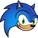 128x128px size png icon of Sonic