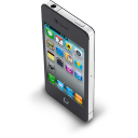 128x128px size png icon of iPhone 4 Black