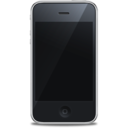 128x128px size png icon of iPhone front black