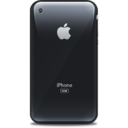 128x128px size png icon of iPhone retro black