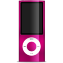 128x128px size png icon of iPod nano magenta
