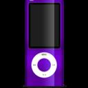 128x128px size png icon of iPod nano purple