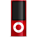 128x128px size png icon of iPod nano red