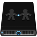 128x128px size png icon of Blue Server