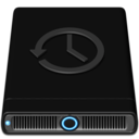 128x128px size png icon of Blue Time Machine